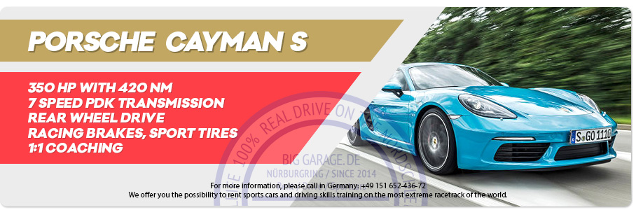 Gift Voucher riding Porsche Cayman S