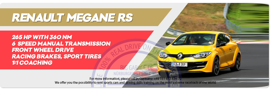 Gift Voucher riding Renault Megane RS