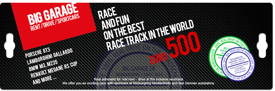 Gift Voucher on Nurburgring Nordschleife