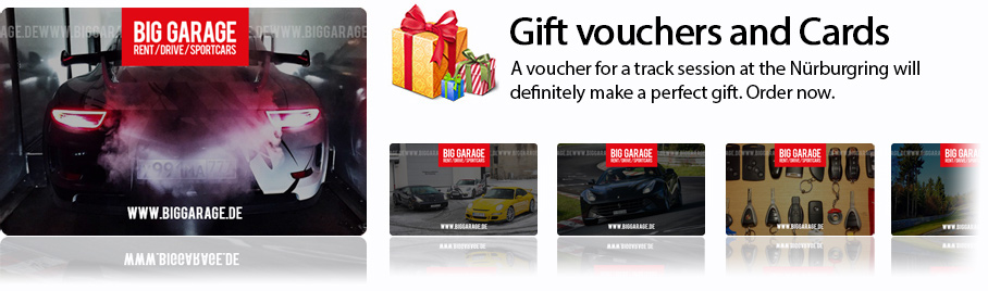 Gift voucher for race track