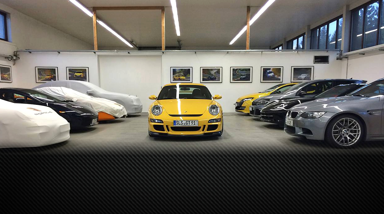 Our Garage and Parking at the Nürburgring Nordschleife
