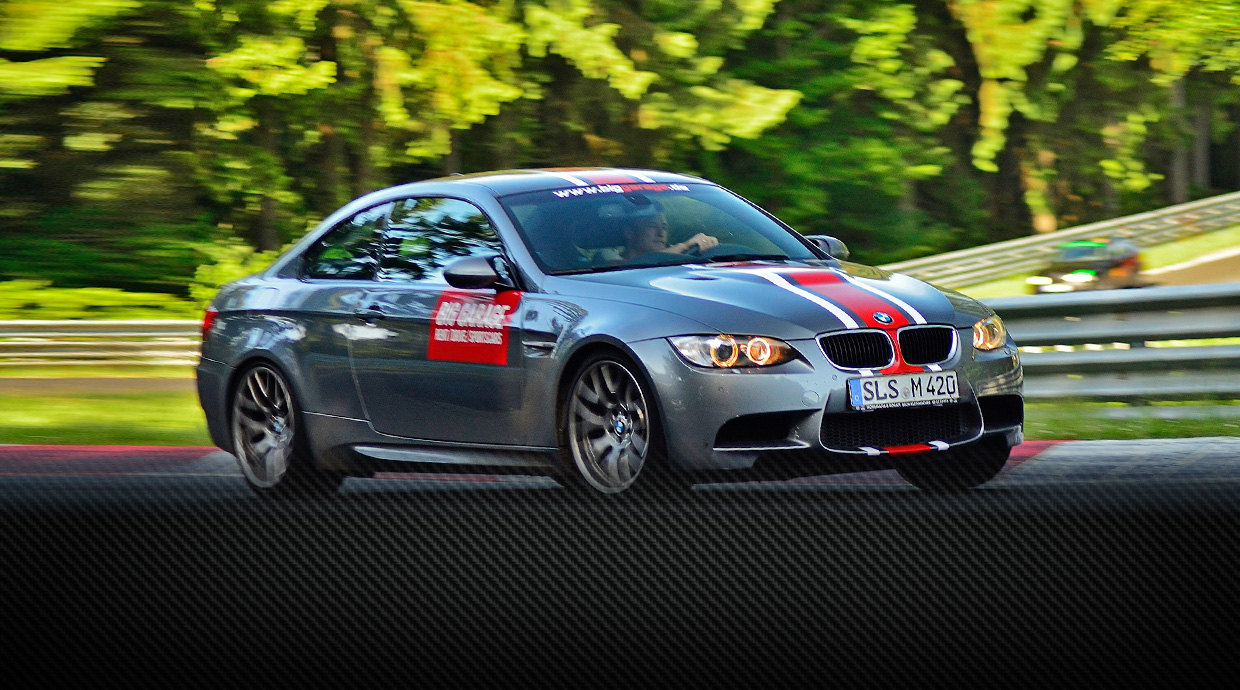 Try riding on the BMW M3 at the «Green Hell»
