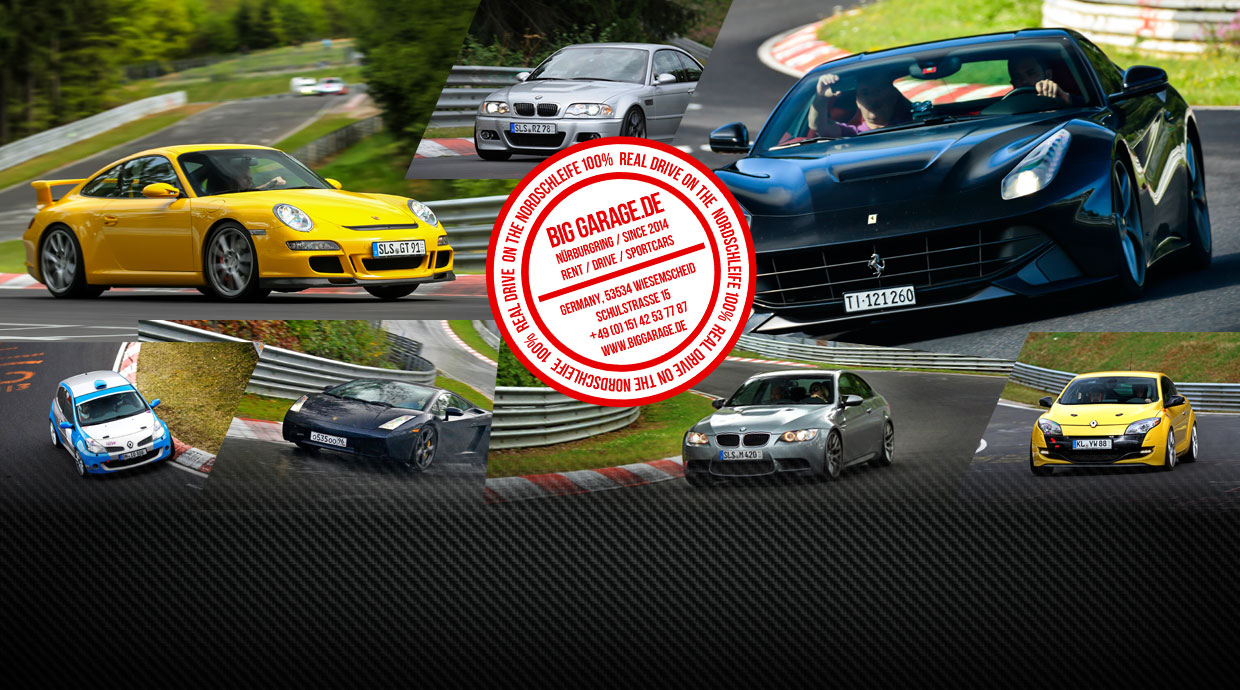 Rent a Cars at the Race Track Nurburgring Nordschleife